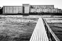 Nowożytny hotel przy plażą - Nyborg, Dani Zdjęcia Royalty Free