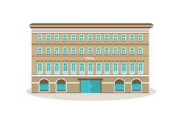 Nowożytny hotel z otoczeniami, niedaleka miasto infrastruktura, parki, niedalecy budynki ilustracja wektor