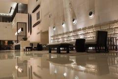 Nowożytny hotelowy wnętrze zdjęcie royalty free