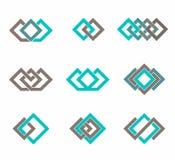 Nowożytny ikona projekta loga elementu szablon Best dla tożsamości i logotypów Obrazy Stock