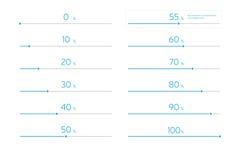 Nowożytny Infographic ładowania bar Ustawiający - nieba błękit Zdjęcia Stock