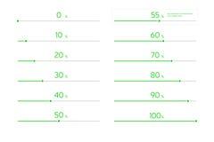 Nowożytny Infographic ładowania bar Ustawiający - zieleń Zdjęcia Stock