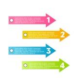 Nowożytny infographic kolorowy projekta szablon Fotografia Stock