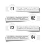 Nowożytny infographic majcher gazety stylu projekta szablon Obraz Stock