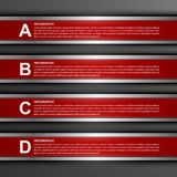 Nowożytny infographic opcja sztandar cztery elementy projektu tła snowfiake białego Zdjęcia Royalty Free