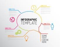 Nowożytny Infographic raportu szablon robić od linii Zdjęcia Royalty Free