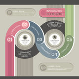 Nowożytny infographic szablon Obrazy Royalty Free