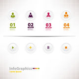 Nowożytny infographic szablon dla biznesowego projekta z sieć projektem Zdjęcia Royalty Free