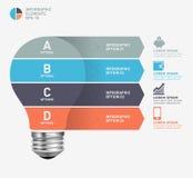 Nowożytny infographic szablon z żarówki ikony projektem Fotografia Stock