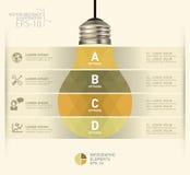Nowożytny infographic szablon z żarówki ikony projektem Obrazy Royalty Free