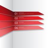 Nowożytny infographics elementu origami styl również zwrócić corel ilustracji wektora Obrazy Royalty Free