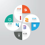 Nowożytny infographics projekta opcj sztandar również zwrócić corel ilustracji wektora Fotografia Stock