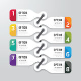 Nowożytny infographics projekta opcj sztandar również zwrócić corel ilustracji wektora Zdjęcie Stock