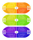 Nowożytny infographics szablon Obrazy Royalty Free