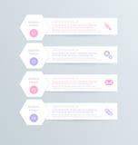 Nowożytny inforgraphic szablon Może używać dla sztandarów, strona internetowa szablonów i projektów, infographic plakaty, broszur Zdjęcie Stock