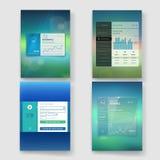 Nowożytny interfejsu użytkownika ekranu szablon dla wiszącej ozdoby Obraz Royalty Free