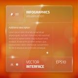 Nowożytny interfejsu użytkownika ekranu szablon dla wiszącej ozdoby Zdjęcia Stock