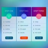 Nowożytny interfejsu użytkownika ekranu szablon dla wiszącej ozdoby Obraz Stock