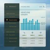 Nowożytny interfejsu użytkownika ekranu szablon dla wiszącej ozdoby Zdjęcie Royalty Free