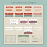 Nowożytny interfejsu użytkownika ekranu szablonu zestaw dla Zdjęcia Royalty Free
