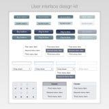 Nowożytny interfejsu użytkownika ekranu szablonu zestaw dla Zdjęcia Stock