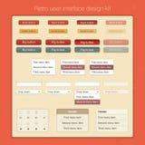 Nowożytny interfejsu użytkownika ekranu szablonu zestaw dla Zdjęcie Royalty Free