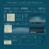 Nowożytny interfejsu użytkownika ekranu szablonu zestaw dla Fotografia Royalty Free