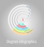 Nowożytny, jasny diagram, Może używać dla infographics, strony internetowe el ilustracji