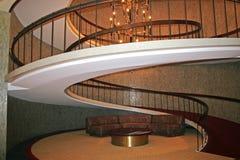Nowożytny kółkowy schody Zdjęcia Royalty Free