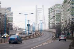 Nowożytny kablowy most Obraz Royalty Free