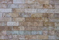 Nowożytny kamienny ściana z cegieł tło Zdjęcie Royalty Free