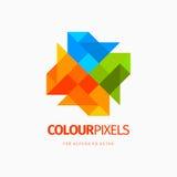 Nowożytny kolorowy abstrakcjonistyczny ikona projekta loga element Best dla tożsamości i logotypów Zdjęcia Stock