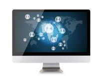 Nowożytny komputerowy pokaz Fotografia Stock