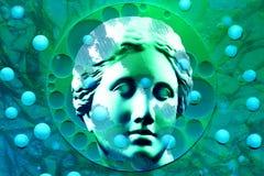 Nowożytny konceptualny sztuka plakat z antyczną statuą popiersie Wenus Kolaż dzisiejsza ustawa STD temat ilustracji