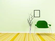 nowożytny krzesło w pokoju Zdjęcie Royalty Free