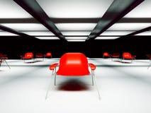 Nowożytny krzesło w pokoju, 3d royalty ilustracja