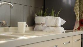 Nowożytny kuchenny wnętrze, scandinavian współczesny wewnętrzny projekt zbiory wideo