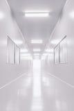 Nowożytny laboratorium naukowe pokój otwierał drzwi z oświetleniem od outside Zdjęcie Royalty Free