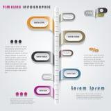 Nowożytny linii czasu infographics projekt ilustracji