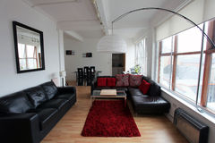 Nowożytny loft stylu mieszkanie Zdjęcie Stock