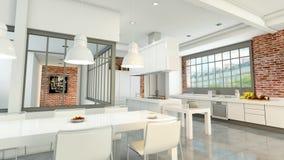 Nowożytny loft z otwartą kuchnią zdjęcie wideo