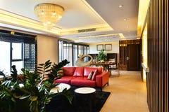 Nowożytny luksusowy żywy izbowy pokój Zdjęcie Stock