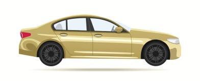 Nowożytny luksusowy złocisty samochód Obraz Royalty Free