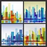 Nowożytny miasta życia tła abstrakcjonistyczny projekt z geometrycznymi kształtami wszelkie konceptualny zielony środowiska rosną Obrazy Royalty Free