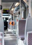 Nowożytny miastowy autobusowy wnętrze fotografia royalty free