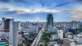Nowożytny Miastowy miasto, Bangkok, Tajlandia. zdjęcie stock