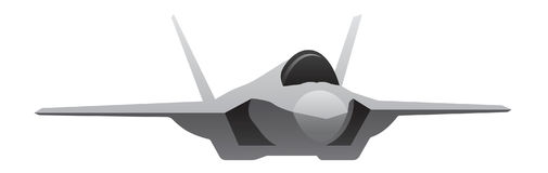 Nowożytny Militarny myśliwa samolot royalty ilustracja