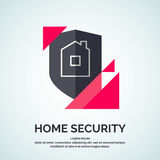 Nowożytny minimalistic wektorowy loga projekt dla domowej ochrony ilustracji