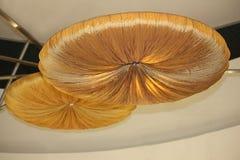 Nowożytny moda projekta sufit Round złociści kształtów świeczniki Zdjęcie Stock