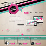 Nowożytny Modny i Kreatywnie strona internetowa szablon Abstrakcjonistyczna sieć projekta ilustracja Eps 10 Obrazy Stock